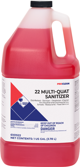22 Multi Quat Sanitizer Ultra ProClean