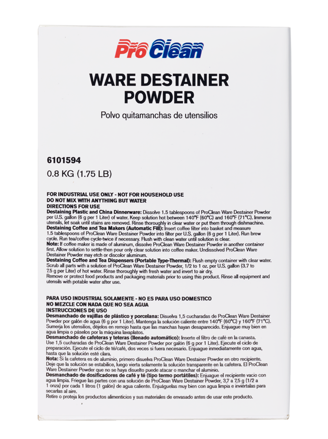 ProClean Ware Destainer Powder